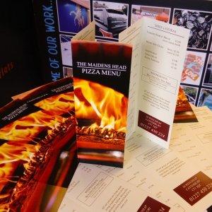 Designed and printed menus